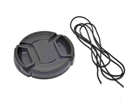 Kood Centre Grip Front Lens Cap 49mm & Keep Cord